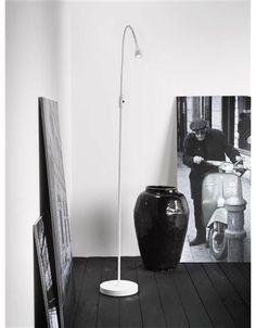 Leeslamp staand LED wit, zwart of chroom 3W