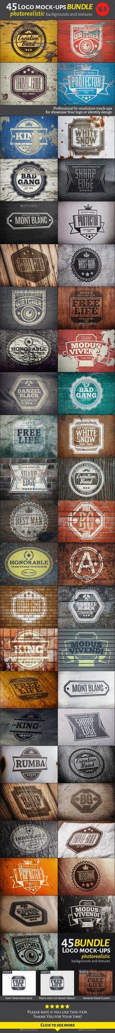 45 Vintage Logo Mock-Ups. Bundle  #design Download: http://graphicriver.net/item/45-vintage-logo-mockups-bundle-v1-/12343351?ref=ksioks