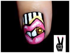 Supa Nails pink lips
