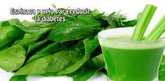 Espinaca y apio para reducir  la diabetes