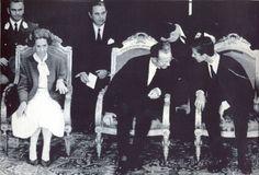 Muere la reina Fabiola de Bélgica - El joven ahora rey Felipe de Borbón de España junto a los reyes de Bélgica en 1985 durante la inauguración de Europalia - RTVE.es