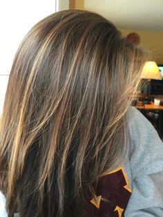 Highlights for brunette hair