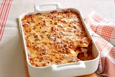 With frozen ravioli and a little TLC (and extra cheese) on your part, this lasagna bake is a very easy way to please the family.
