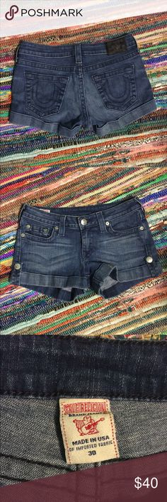 True religion summer shorts size 30 True religion summer shorts size 30 Like new Women size Purchased from buckle some times back  No free shipping Great deal   Happy shopping!  :) True Religion Shorts Jean Shorts