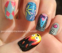 my howl's moving castle nails // studio ghibli