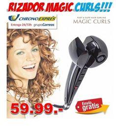 Plancha rizador de pelo Magic Curls. Rizos perfectos en minutos. Ofertas y descuentos en productos para la belleza y salud del cabello. http://www.yougamebay.com/es/product/rizador-de-pelo-magic-curls-profesional-compras-online
