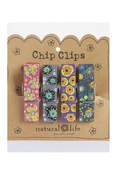 Purple And Teal Chip Clips from LaRue Chic Boutique. Shop more products from LaRue Chic Boutique on Wanelo.