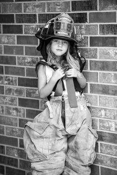 little firefighter. I should get a lot of little kids and do this with other jobs