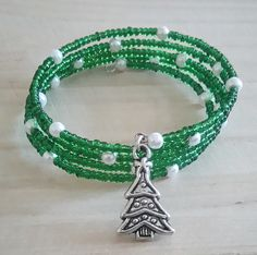 Memory Wire Christmas Bracelet | Memories, Wire and Bracelets