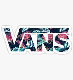 Vans - Flower Pattern Sticker