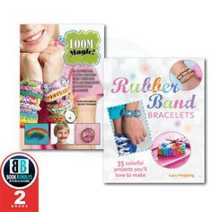 Great Collection book Rubber Band Loom Bracelets 2 Books Collection Set