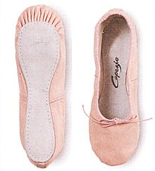 Capezio pink leather ballet slipper.. my mom made me take ballet lessons and I truly hated it!! ;)