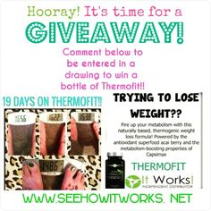 Who wants to try a bottle of Thermofit for FREE??? All you have to do is go Like my See How Itworks FB page and comment on my FB PAGE under this post!! Message me for more details!!! I'll do the drawing Friday!!!  https://m.facebook.com/seehowitworkswithnicole #giveaway #thermofit #reduceappetite #reducecravings #weightlossstruggle #itworks #startontheinside #boostenergy #burncalories