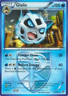 Glalie Pokemon Card With Team Plasma #FantasyFlightGames