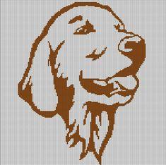 BROWN+DOG+HEAD+CROCHET+AFGHAN+PATTERN+GRAPH
