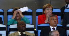 Dilma Rousseff y Angela Merkel en la final del mundial 2014