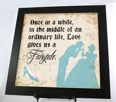 Love Gives Us A Fairytale Disney 12 x 12 by PopCreativeDesigns, $10.00