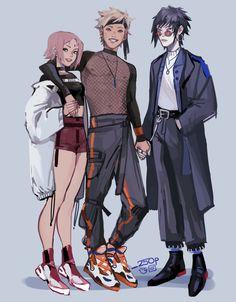Sakura x Naruto x Sasuke Anime Naruto, Naruto Und Sasuke, Naruto Cute, Sakura And Sasuke, Itachi, Otaku Anime, Anime Guys, Manga Anime, Naruto Girls
