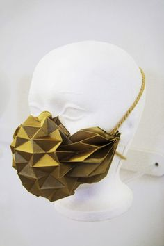 face mask design - Façade Urbane is introducing a series of fashion-forward face mask designs that are created with printing. These intricate origami-inspir. Impression 3d, 3d Printed Mask, Mouth Mask Design, Origami Lamp, 3d Printing Industry, 3d Printed Jewelry, Origami Design, Protective Mask, Textiles