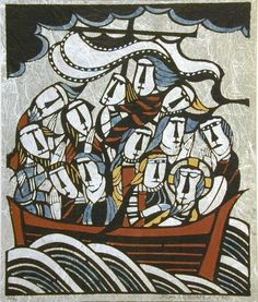 Christ and Disciples on Sea of Galilee(?) 日付:1973