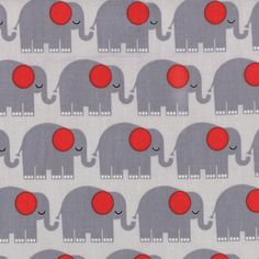 Bungle Jungle by Tim and Beck for Moda, elephants in Gray - 1 yard listing. $8.75, via Etsy.