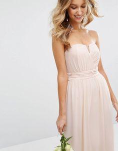 342b9344555 TFNC WEDDING Bandeau Maxi Dress at asos.com