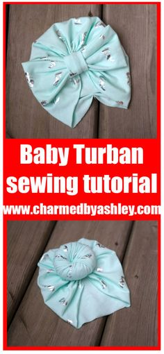 free newborn turban hat pattern and tutorial Accessories a Bun or a Bow to top it off - charmedbyashley -Outstanding 50 Sewing tips are offered on our website. Read more and you wont be sorry you did. Headband Bebe, Turban Headband Tutorial, Baby Turban Headband, Knotted Headband, Hat Tutorial, Turban Hut, Ideias Diy, Leftover Fabric, Sewing Hacks