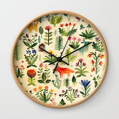 Buy Garden Wall Clock by aitchh. Worldwide shipping available at Society6.com. Just one of millions of high quality products available.
