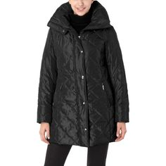 BGSD Women's Thinsulate Filled Quilted A-Line Coat - Black S $59.99