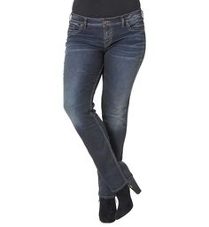 Silver Jeans Suki Mid Rise Straight Leg for Women W93413SSX405