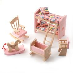 wooden dolls house furniture - Google Search