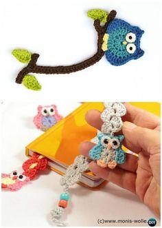 Crochet Owl Bookmark Free Pattern- #Crochet Owl Ideas Free Patterns #Owls
