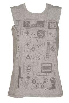 Ladies Old School Gamer #Sleeveless T-Shirt from TruffleShuffle xoxo #retro