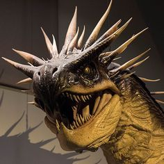 The Special Effects Department added a flamethrower to this model of the Hungarian Horntail which threw real fireballs more than 40 feet from its mouth! #WBTourLondon #HarryPotter #TriwizardTournament by wbtourlondon