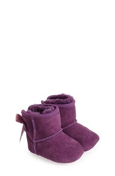 UGG® Australia 'Jesse Bow' Suede Boot (Baby & Walker) available at #Nordstrom