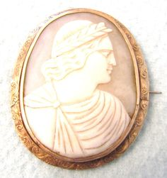 FREE POST  Beautiful Antique Victorian Cameo by AToasttothePast