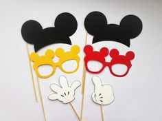 Mickey Mouse photo booth props Mickey Mouse ears Mickey Mouse decorations Mickey Mouse printables Mickey Mouse cutouts Clubhouse décor