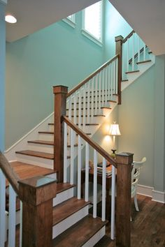 Rice Architect's Amelia Low-Country Island Home - staircase - Amelia Island, Florida