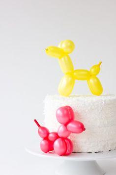 DIY Balloon Animal Cake Topper / Studio DIY
