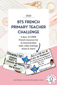Are you a French primary teacher? Looking for a FUN way to get ready for la rentrée this year? Come join this FREE 5-day French teacher challenge and let's prep together! You'll get 3.5 brand new resources (one digital!) for la communication orale, live video trainings, access to a community of teachers just like you, plus the chance to win prizes! Enrolment is now open and the challenge kicks off Aug 12, 2020. Click to sign up! #frenchimmersion Oral Communication Skills, Communication Orale, French Immersion, French Teacher, Bts, Win Prizes, Second Language, Back To School, Kicks