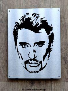 Johnny Haliday, Star Silhouette, Pyrography, Portraits, Stencils, Batman, Superhero, Stars, Airbrush