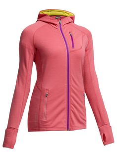 Quantum Long Sleeve Zip Hood   When you want a warm, sleek, breathable jacket for running day or night in cool conditions, the Women's Quantum Long Sleeve Zip Hoodie delivers maximum comfort and mobility. Crafted for movement with raglan sleeves and underarm gussets, the Quantum Hoodie also has breathable eyelet mesh panels for comfort when you generate maximum energy. Reflective details aid visibility for running at night, and a fitted hood adds warmth when you need it without added…