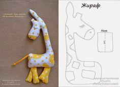 ARTE COM QUIANE - Paps,Moldes,E.V.A,Feltro,Costuras,Fofuchas 3D: molde girafa de tecido