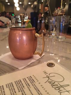 Must have a Moscow Mule at the Rarebit in Charleston, SC