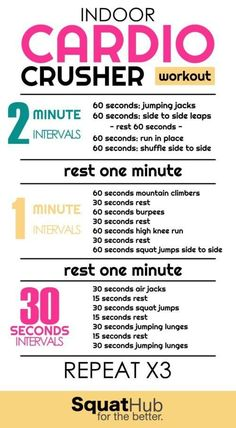 Indoor Cardio Crusher Workout That You Can Do Anywhere