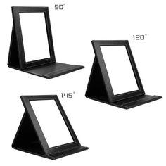 Amazon.com : DUcare(TM) Black Folding Cosmetics Mirror, Professional Portable Multi-used Makeup Mirror with Leather Case : Beauty