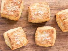 La Brea Bakery's Nancy Silverton's Butter Biscuits -  Treated like puff pastry, the dough for these buttery biscuits is rolled and folded several times to create multiple flaky layers.