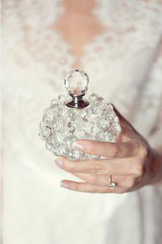 Fancy.  Photo by Sarah Kate Photographer http://sarahkatephoto.com.  www.wedsociety.com  #perfume #crystals #fancy