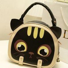 kitty cat shoulder bag