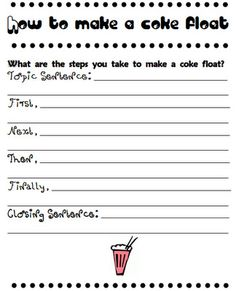 How To Make a Coke Float Writing! - Pinned by @PediaStaff – Please visit http://ht.ly/63sNt for all (hundreds of) our pediatric therapy pins